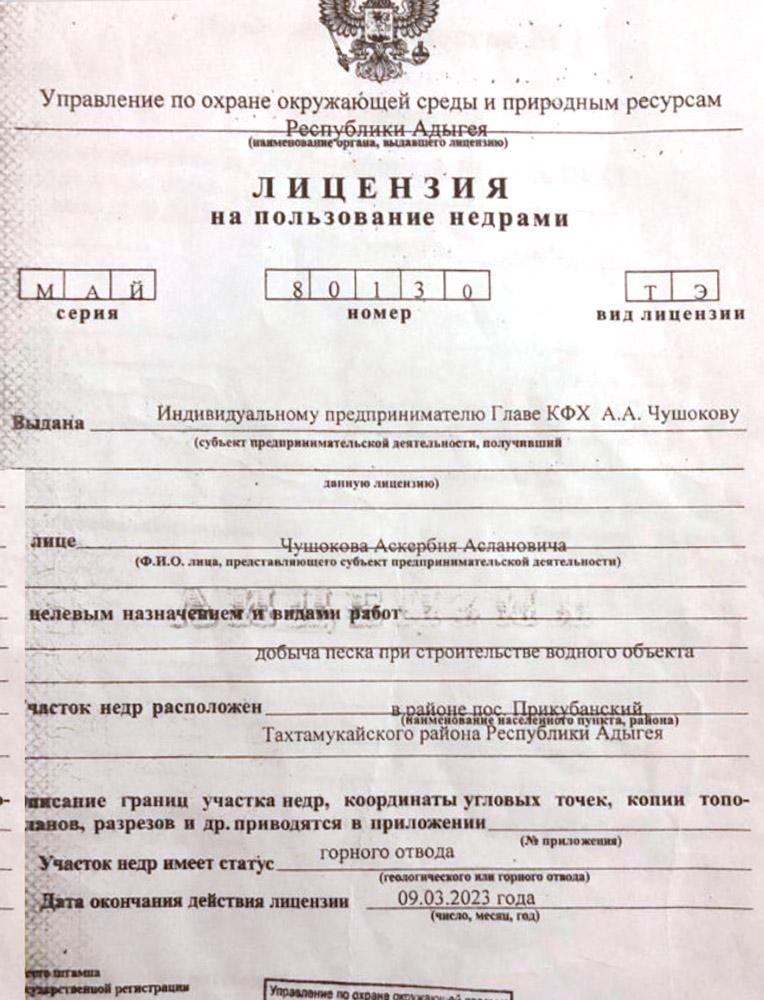Карьер Прикубанский. Песок природный Паспорт качества