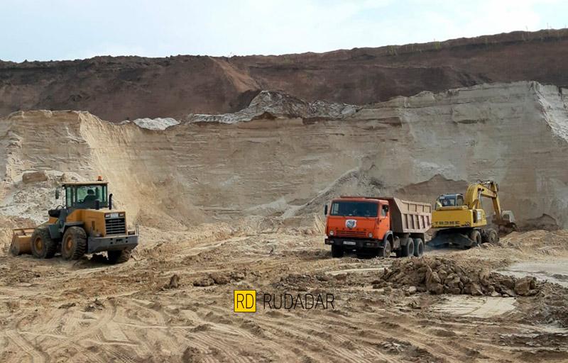 Кагальницкий карьер. Фотография песка