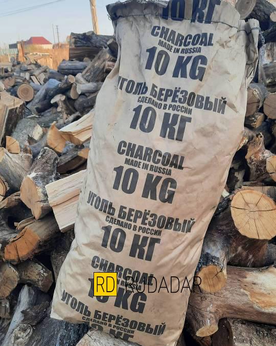 уголь древесный дубовый в мешках 10 кг